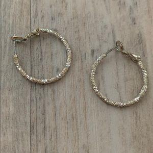 Jewelry - ✨ Silver Sparkle Hoop Earrings